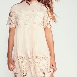 Free People Hollie Lace Mini Dress